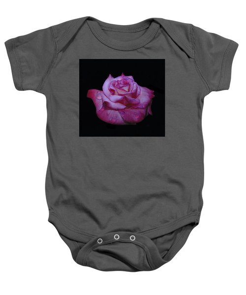 Watered Red Rose Baby Onesie