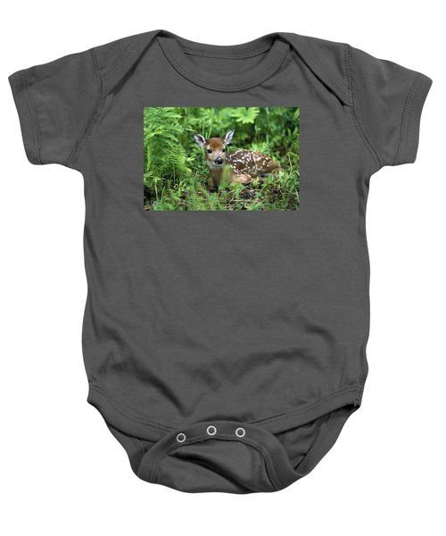 White-tailed Deer Odocoileus Baby Onesie