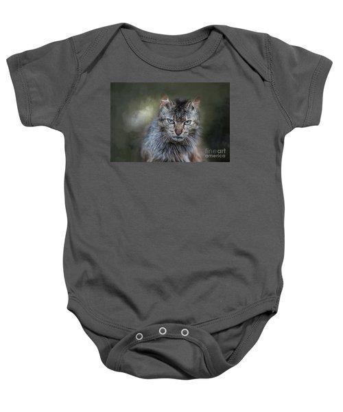 Wild Cat Portrait Baby Onesie