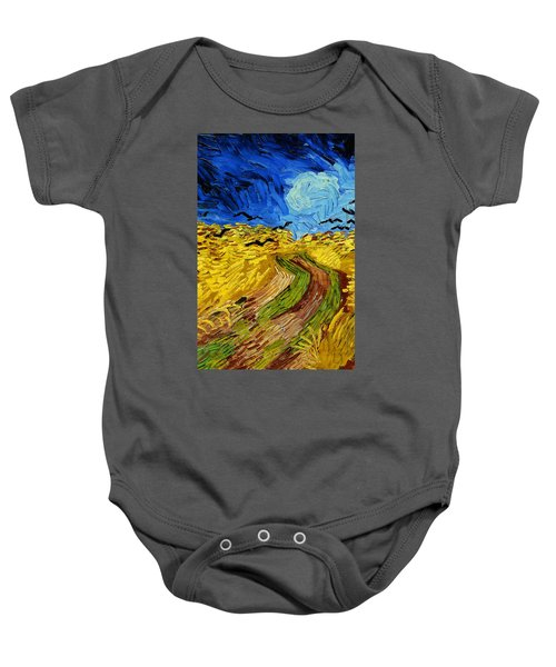 Wheatfield With Crows Baby Onesie