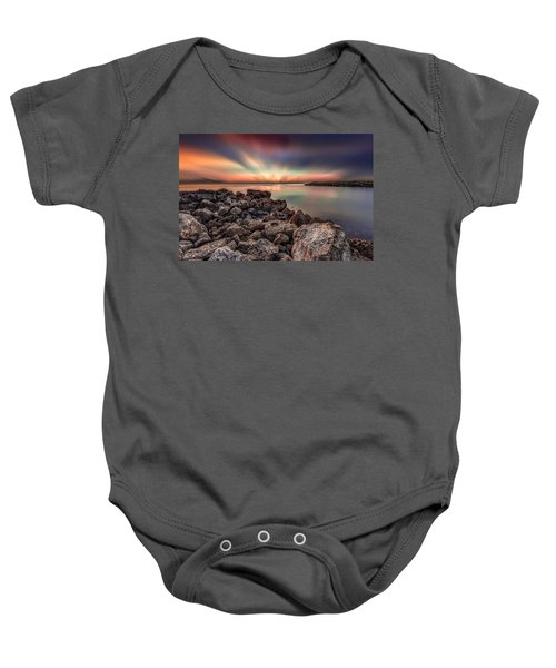 Sunst Over The Ocean Baby Onesie