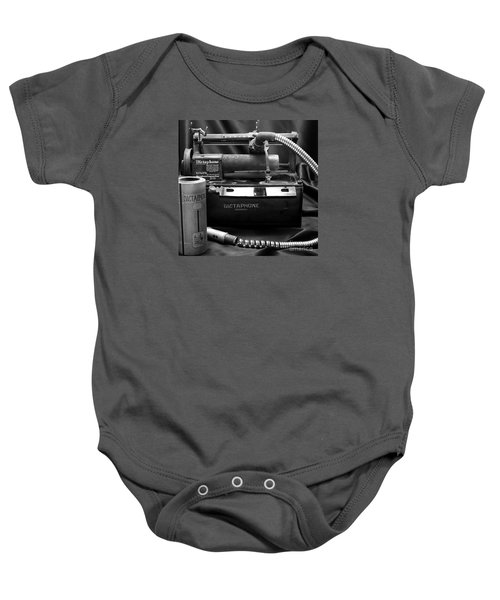 Baby Onesie featuring the photograph 1912 Dictaphone  by Ricky L Jones