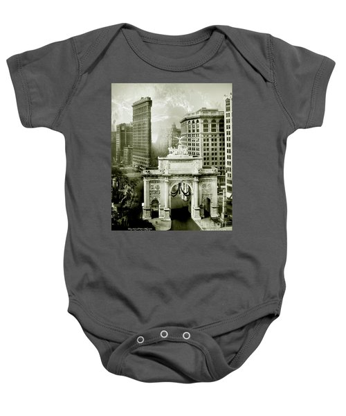 1919 Flatiron Building With The Victory Arch Baby Onesie