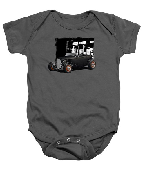 1932 Ford At Gas Station Baby Onesie