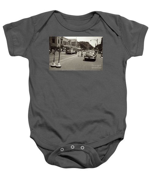 1940's Inwood Trolley Baby Onesie by Cole Thompson