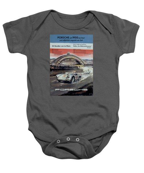1950 Porsche Le Mans Poster Baby Onesie