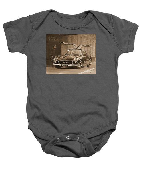 1954 Mercedes Benz 300 Sl  In Sepia Baby Onesie