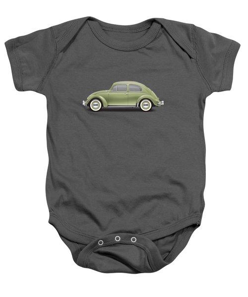 1957 Volkswagen Deluxe Sedan - Diamond Green Baby Onesie