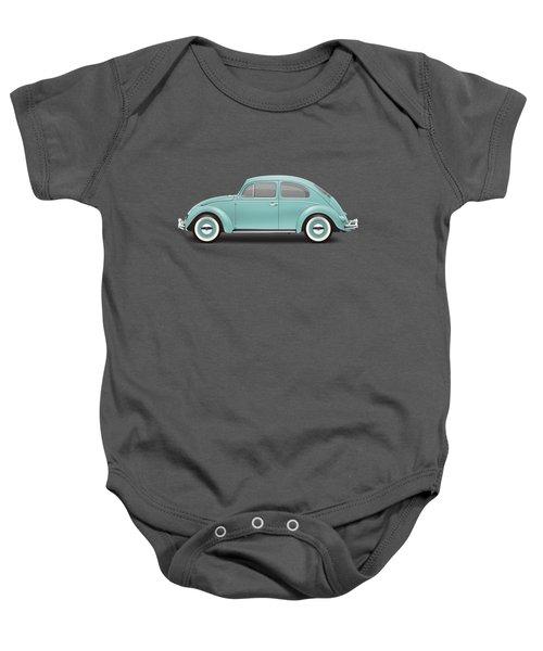 1961 Volkswagen Deluxe Sedan - Turquoise Baby Onesie
