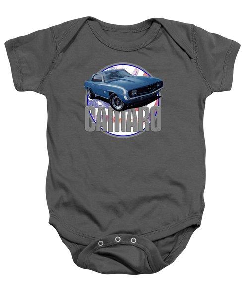 0ea082300 1969 Camaro Ss American Flag Baby Onesie