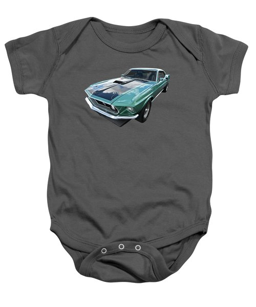 1969 Green 428 Mach 1 Cobra Jet Ford Mustang Baby Onesie