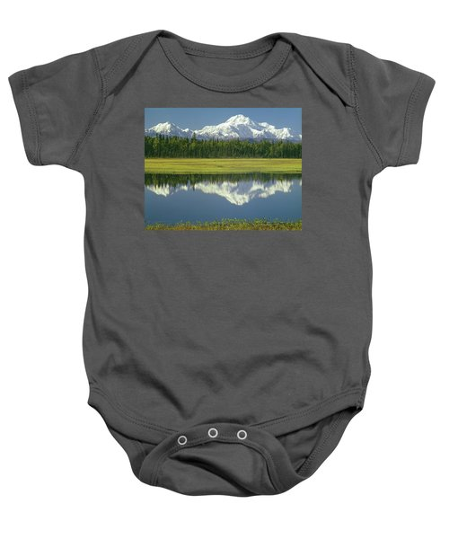 1m1325 Mt. Hunter And Mt. Denali Baby Onesie
