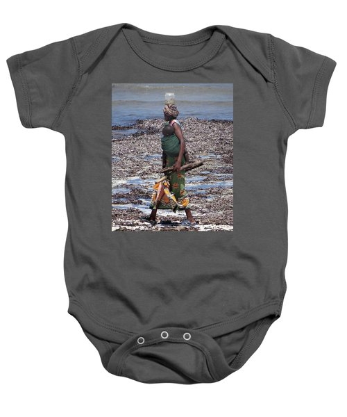 African Woman Collecting Shells 1 Baby Onesie