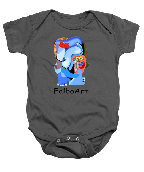 Blue Nude With Tulips Baby Onesie