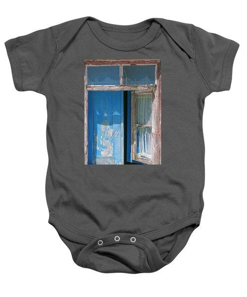 Blue Window Baby Onesie