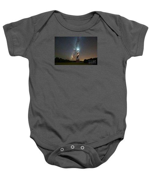Cape Hatteras Lighthouse Milky Way Baby Onesie