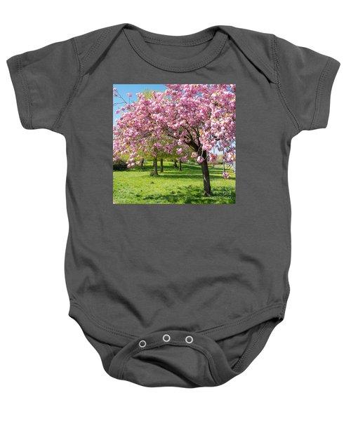 Cherry Blossom Tree Baby Onesie