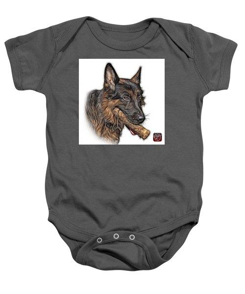German Shepherd And Toy - 0745 F Baby Onesie