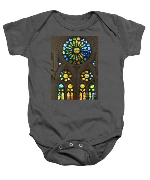 Graphic Art From Photo Library Of Photographic Collection Of Christian Churches Temples Of Place Of  Baby Onesie by Navin Joshi