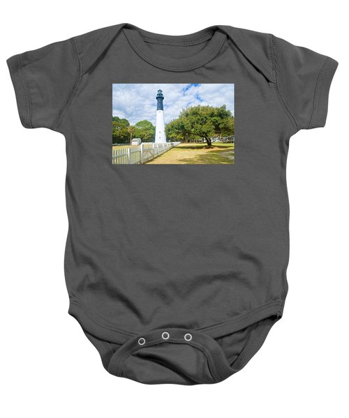Hunting Island Lighthouse Baby Onesie