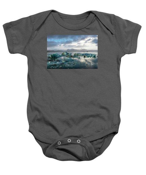 Jokulsarlon, The Glacier Lagoon, Iceland 3 Baby Onesie
