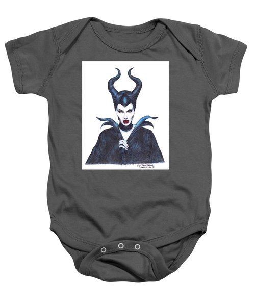 Maleficent  Once Upon A Dream Baby Onesie by Kent Chua