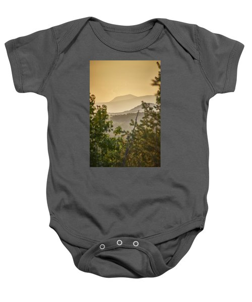 Mountains In The Distance Baby Onesie