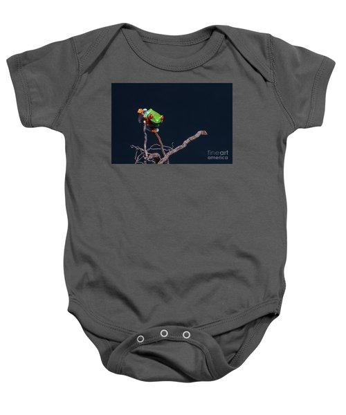 Red Eyed Tree Frog Baby Onesie