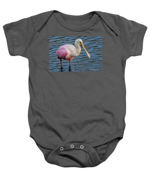 Roseate Spoonbill 1 Baby Onesie