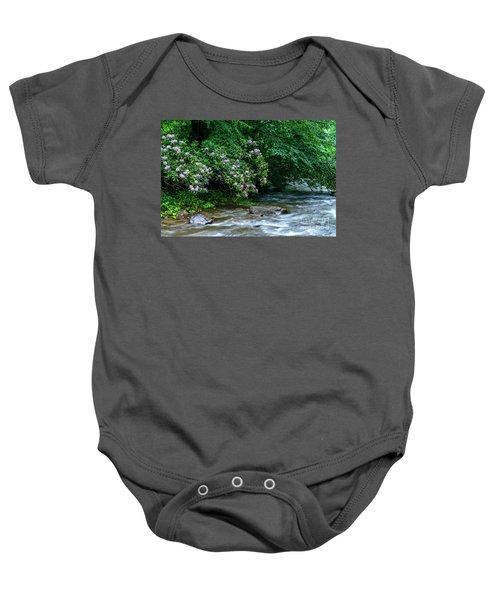 Summer Along Birch River Baby Onesie