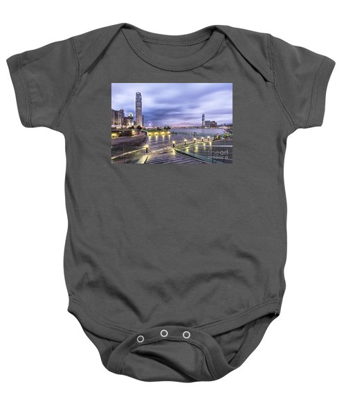 Sunset Over Hong Kong Baby Onesie