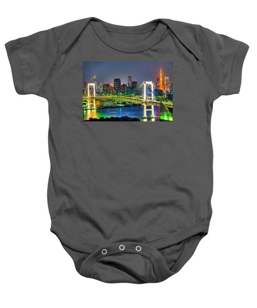 Tokyo - Japan Baby Onesie by Luciano Mortula
