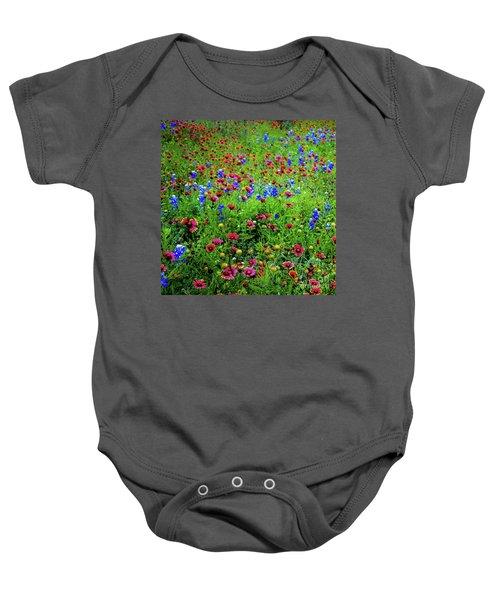 Wildflowers In Bloom Baby Onesie