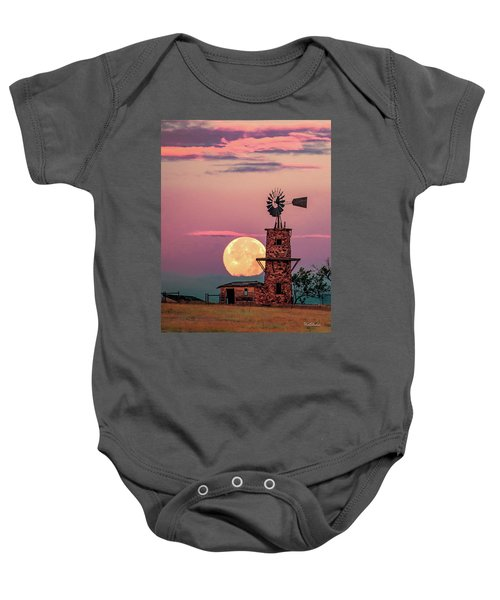 Windmill At Moonset Baby Onesie