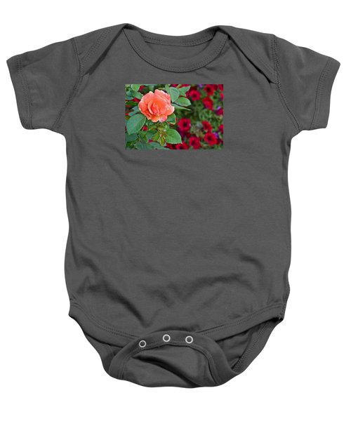 2015 Fall Equinox At The Garden Sunset Rose And Petunias Baby Onesie
