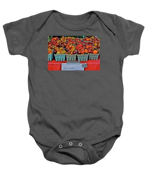 2017 Monona Farmers' Market August Heirloom Cherry Tomatoes Baby Onesie