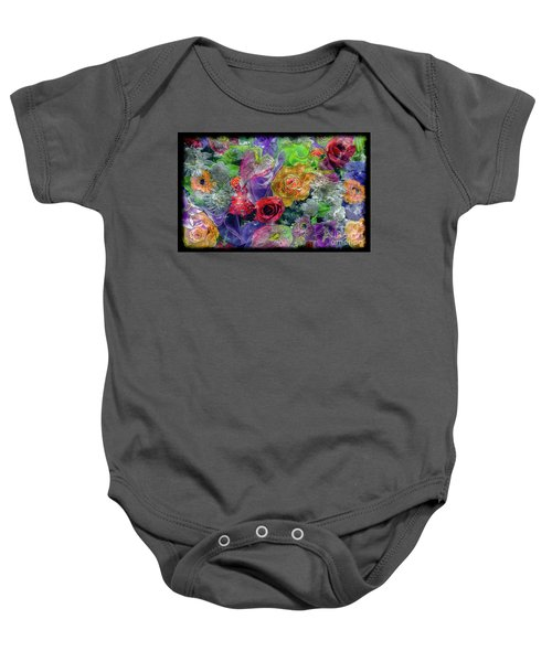 21a Abstract Floral Painting Digital Expressionism Baby Onesie