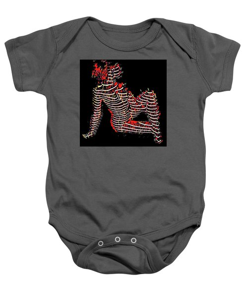 2450s-mak Lined By Light Nude Woman Rendered As Abstract Oil Painting Baby Onesie
