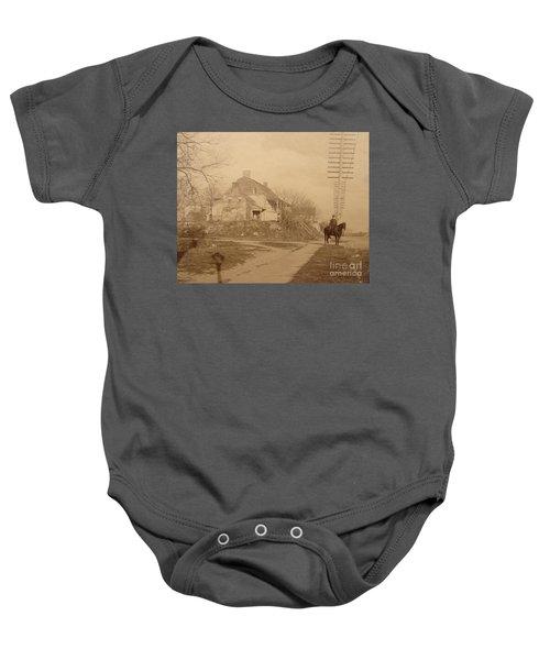 Dyckman Farmhouse  Baby Onesie by Cole Thompson