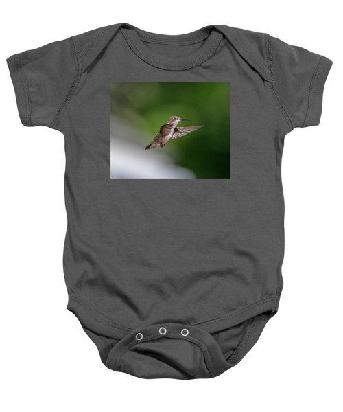 Female Ruby Throated Hummingbird Baby Onesie