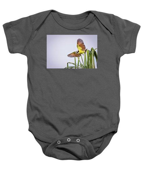 Great Crested Flycatcher Baby Onesie