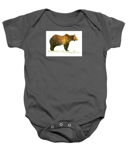 Grizzly Brown Bear Baby Onesie