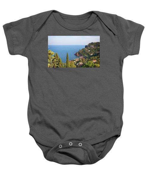 French Mediterranean Coastline Baby Onesie