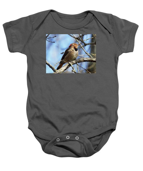 Northern Flicker Woodpecker Baby Onesie