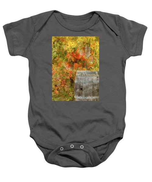 Wine Barrel In Autumn Baby Onesie