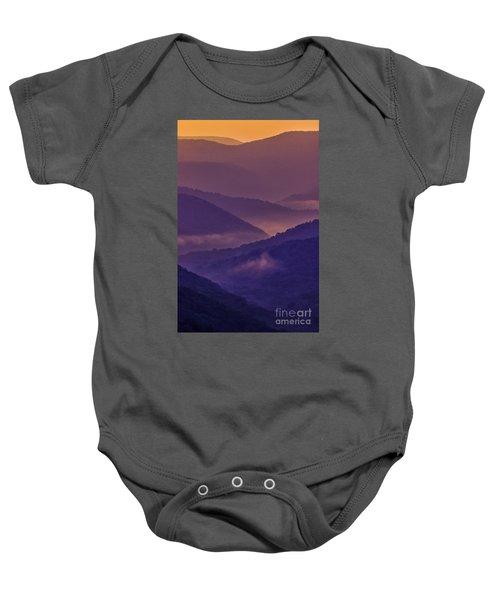 Allegheny Mountain Sunrise Two Baby Onesie
