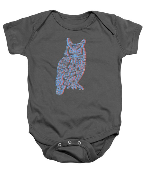3d Owl Baby Onesie by Cold Wash