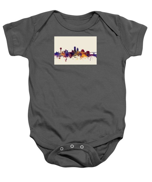 Knoxville Tennessee Skyline Baby Onesie