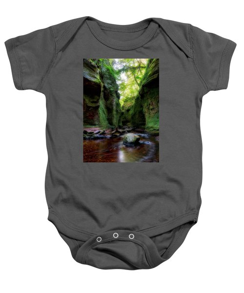 The Devil Pulpit At Finnich Glen Baby Onesie by Jeremy Lavender Photography