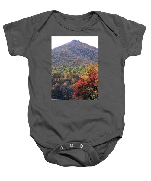 View Of Abbott Lake And Sharp Top In Autumn Baby Onesie